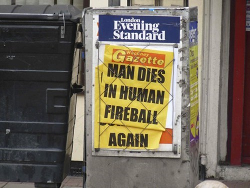ouch,headline,fireball,newspaper