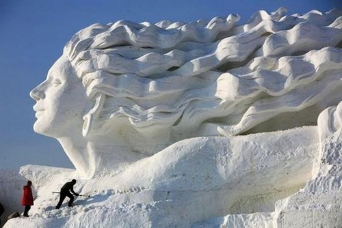 art,snow,sculpture,winter,snow sculpture