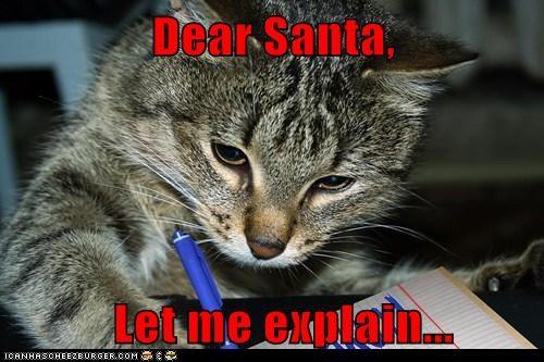 christmas naughty captions explain nice santa Cats - 6853809408