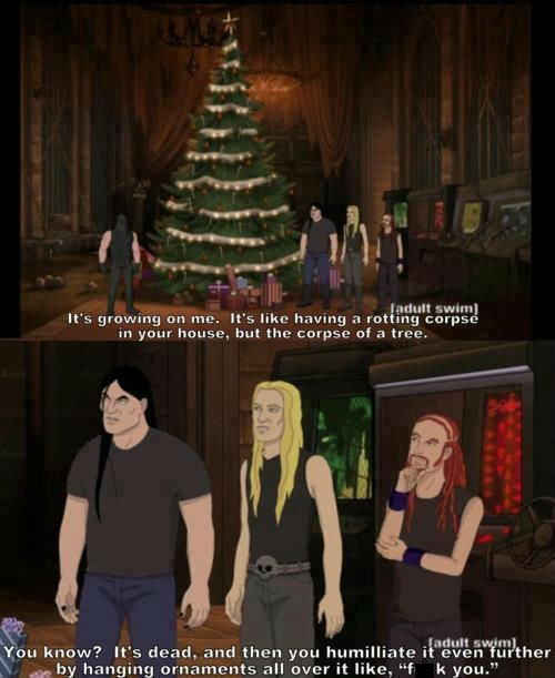 christmas,Metalocalypse,christmas trees,heavy metal