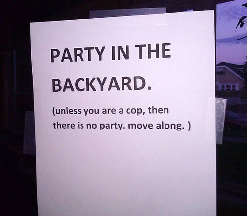 cops,Party,not invited,after 12,g rated