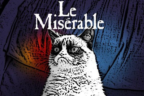 miserable musicals movies Memes books Grumpy Cat tard Les Misérables - 6854387712