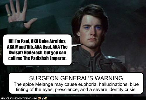 commercial Dune surgeon general waring spice paul atreides - 6854455552