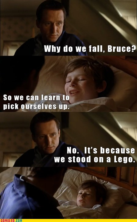 Movie,step on a lego,batman,bruce wayne