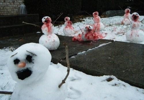wtf,snowmen,funny,holidays,snowman