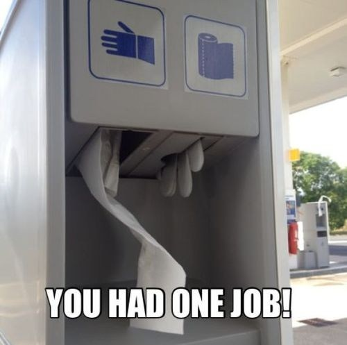 glove dispenser gloves you had one job paper towel - 6854852352