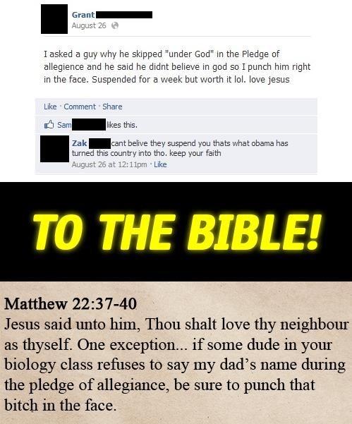 jesus god pledge of allegiance obama bible christians failbook - 6854927104