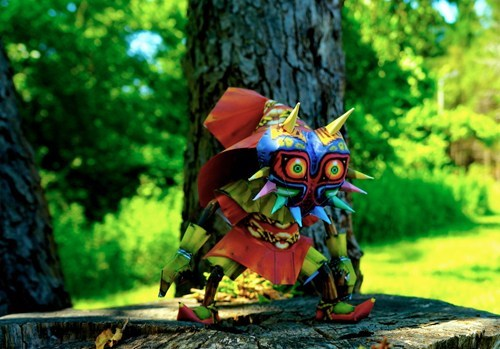 skull kid,legend of zelda,nerdgasm,papercraft,majoras mask,craft
