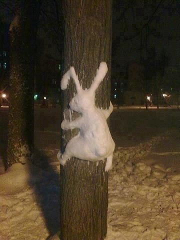 snow man,sculpture,design,cute,bunny