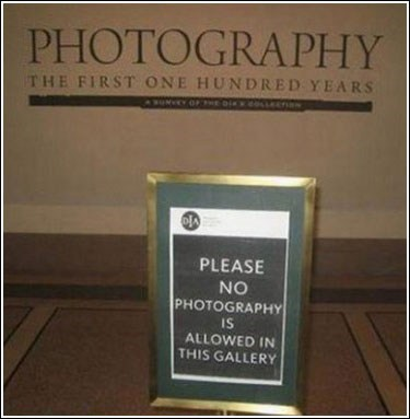 sign photography camera irony museum