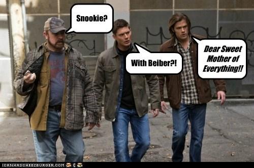 bobby singer,justin beiber,Snookie,jensen ackles,Supernatural,scared,dean winchester,sam winchester,Jared Padalecki,jim beaver