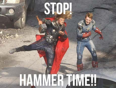 Thor hammer time captain america stop avengers - 6855433472