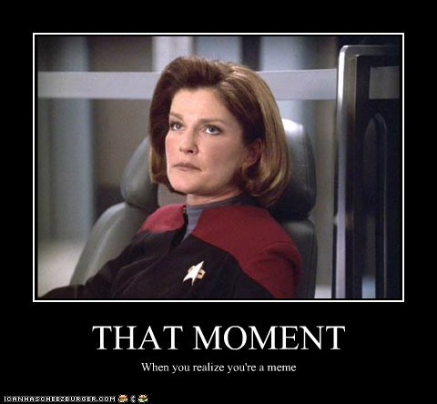 kate mulgrew eyeroll that moment voyager meme captain janeway Star Trek realize - 6855577088