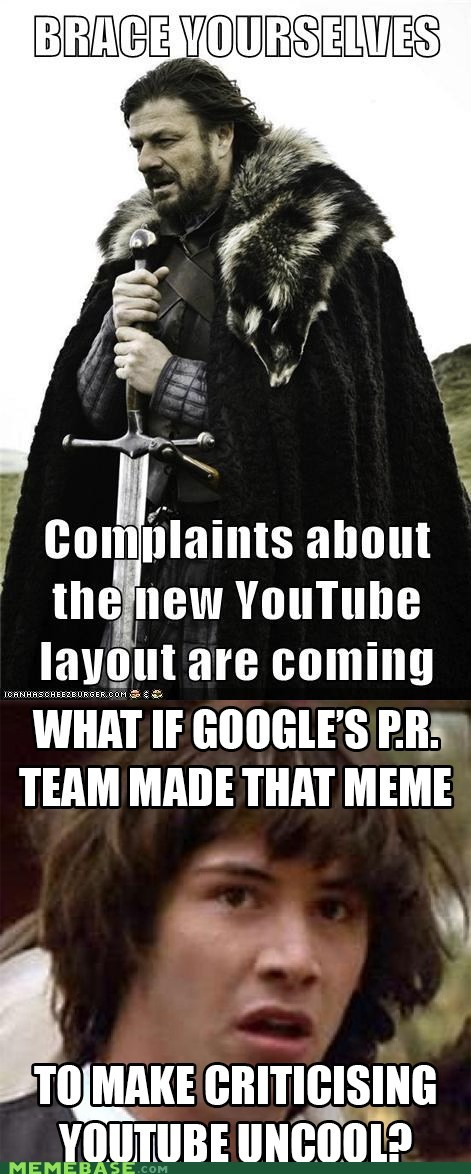 brace yourself youtube conspiracy keanu re-frames