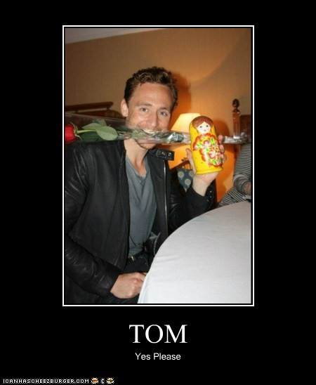rose,tom hiddleston,nesting doll,yes please,cute