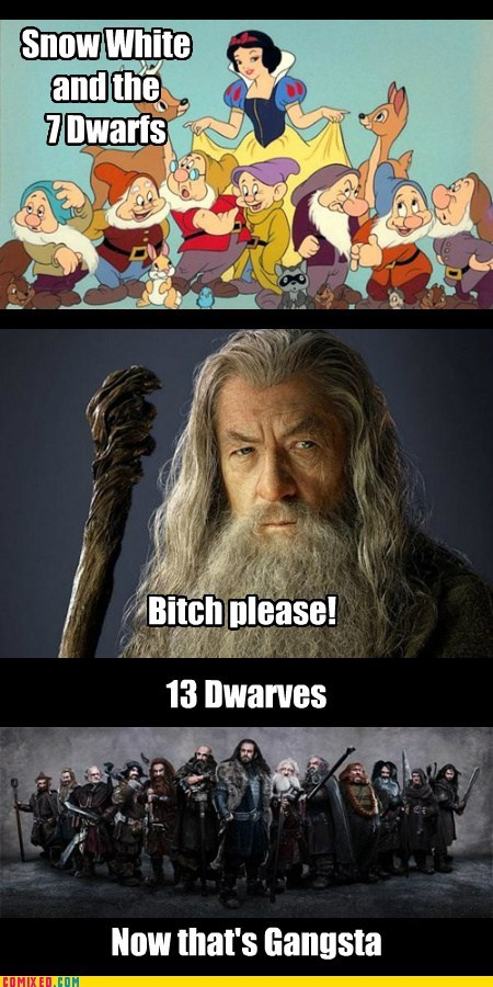 gangsta,dwarves,Movie,snow white,gandalf,The Hobbit