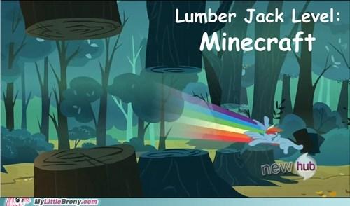 applejack,minecraft,lumberjack,steve