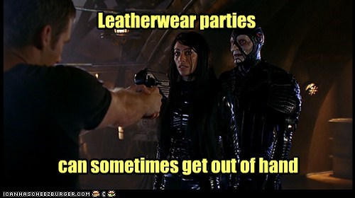 Scorpius,husband,farscape,leather,out of hand,parties