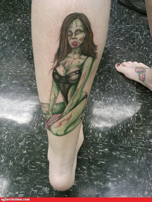 stripper leg tattoos pinups zombie - 6859067648