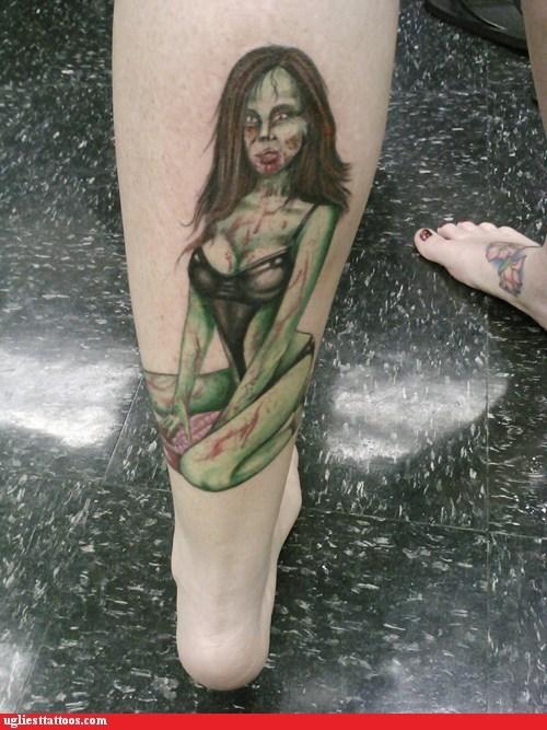 stripper leg tattoos zombie - 6859067648