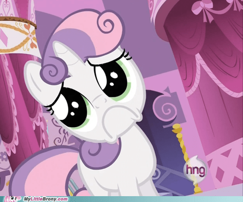 Sweetie Belle hub logo heart attack hng - 6859188480
