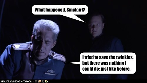 What happened, Sinclair!? I tried to save the twinkies, but there was nothing I could do: just like before.