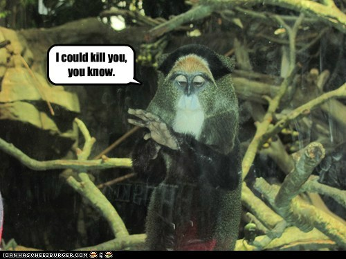 kill you monkeys threatening Jedi