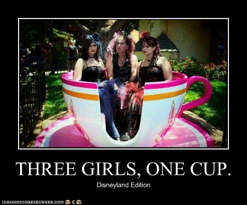 THREE GIRLS, ONE CUP. Disneyland Edition