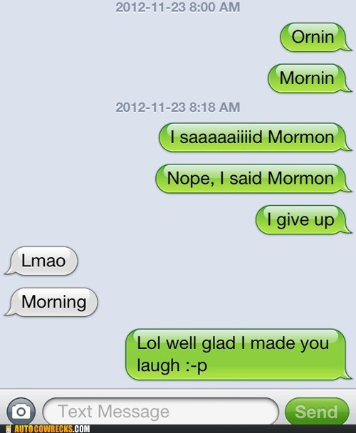 autocorrected,mormon,iPhones,morning
