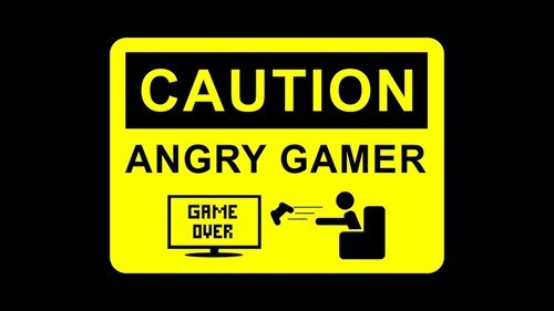 controller caution angry gamer runnnn - 6862051072