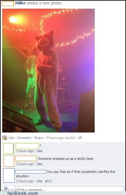 costume costume party teddy bear clarification