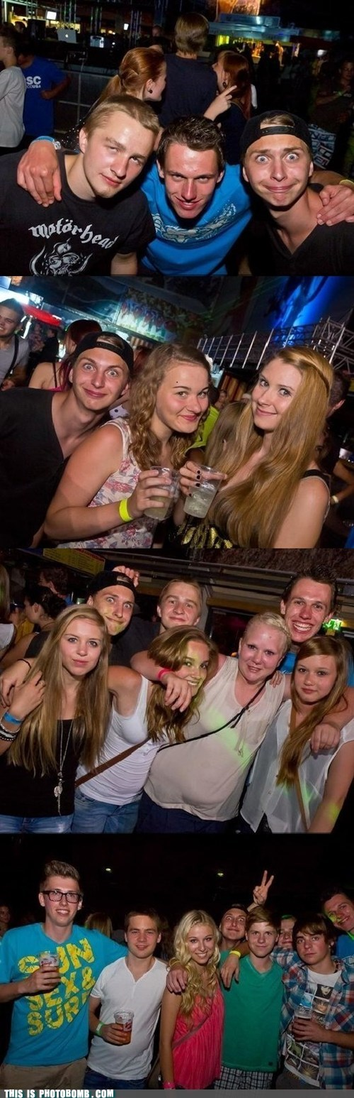 club creepy photobomb level