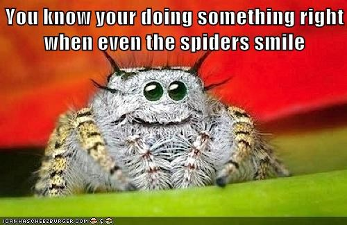 spiders,smiling,right,creepy