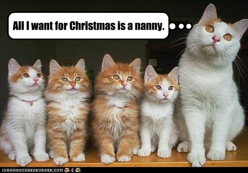 All I want for Christmas is a nanny.