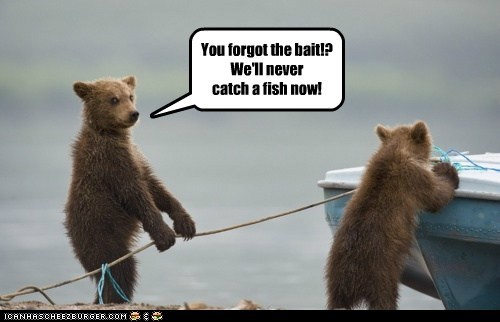 fishing bears fish forgot boats - 6864237056