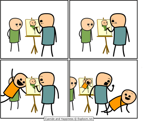 painter,trolling,cyanide & happiness