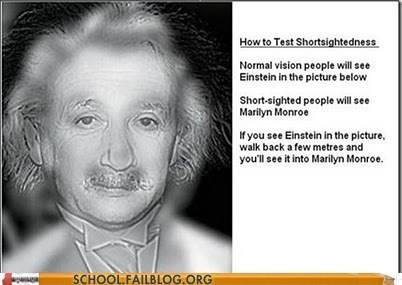marilyn monroe,einstein,eye test
