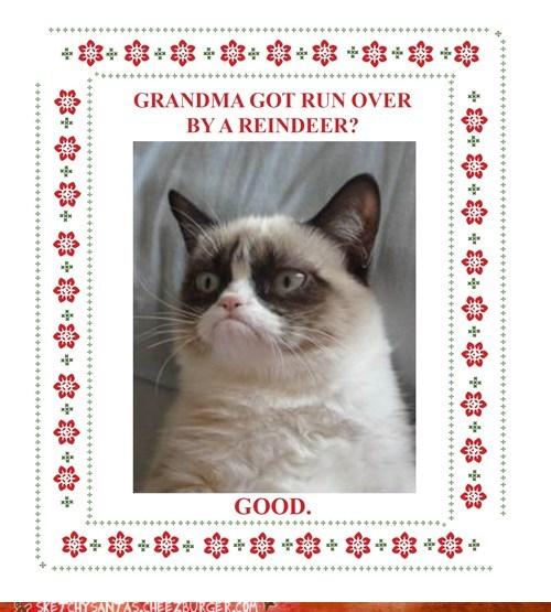 christmas,reindeer,Grumpy Cat,tard,funny,holidays
