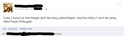 people mcnuggets,dwarves,midgets,failbook