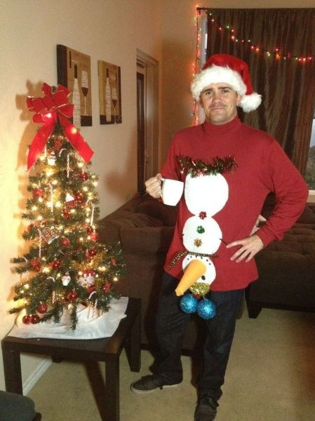 christmas sweater snowman poorly dressed - 6865814016