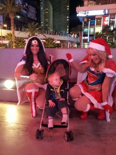 christmas wonder woman super heros hot babes
