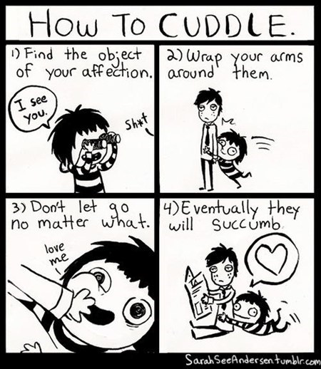 relationship cuddling comic love hug