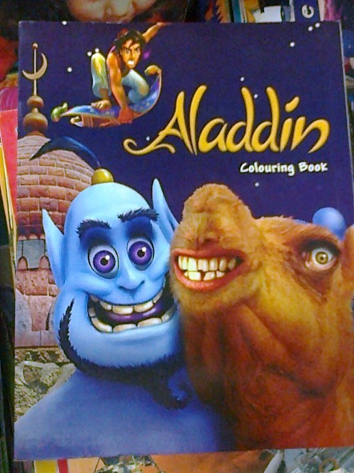 Ruined Childhood,coloring book,creepy,aladdin