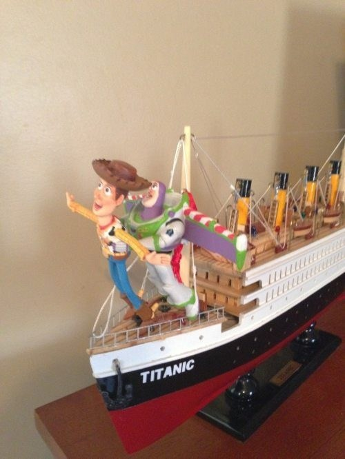 titanic,woody,toy story,buzz lightyear,funny