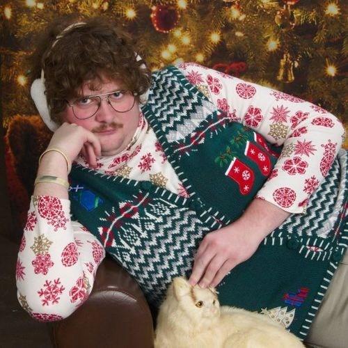 christmas creepy sweater funny holidays g rated sketchy santas - 6866360576