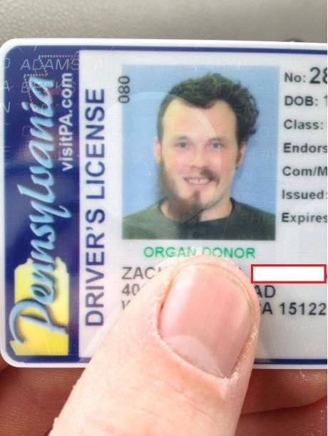 half facial hair picture drivers license - 6866457088