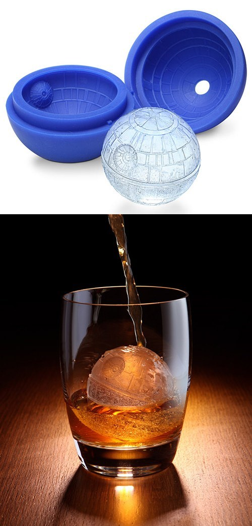 drinks star wars whiskey mold Death Star ice