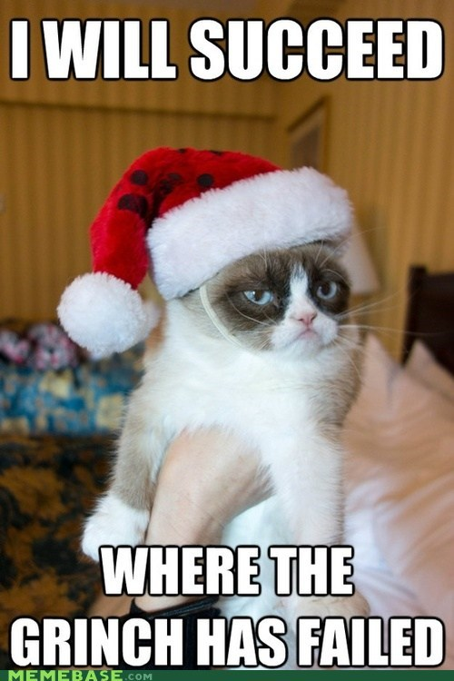 the Grinch jingle memes Grumpy Cat christmas Memes tard Cats
