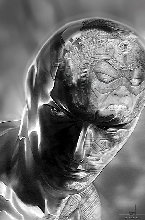 silver surfer reflection galactus