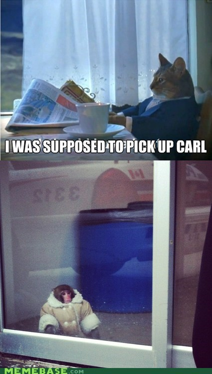 ikea monkey,carl,The Walking Dead